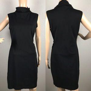 Diane Von Furstenberg ruched turtleneck dress sz14